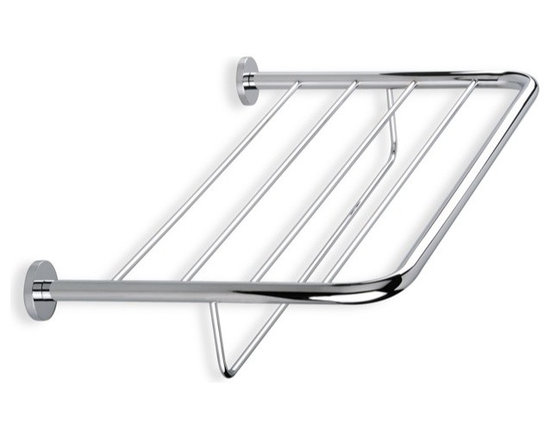 """24"""" Towel Rack by StilHaus - 24 inch round towel rack for the bathroom. Made of brass and available with a chrome or satin nickel finish. Width: 23.62"""" Height: 4.3"""" Depth: 10.23"""""""