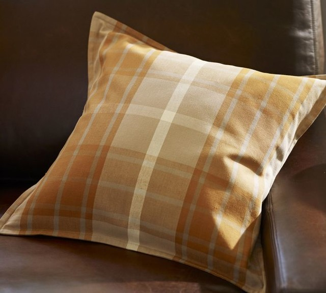 Harvest Plaid Pillow Cover, Warm - Traditional - Decorative Pillows - by Pottery Barn