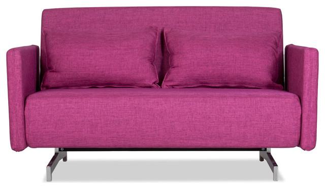 Dendera B Pink Sofa Bed modern-futons