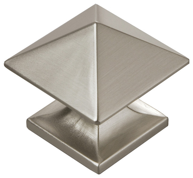 "Square Studio Collection Stainless Steel Cabinet Knob, 1 1/4"" - Traditional - Cabinet And Drawer ..."