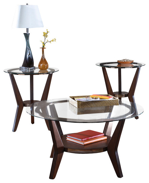 Signature Design by Ashley Ferretti 3 Piece Occasional Table Set - Contemporary - Side Tables ...
