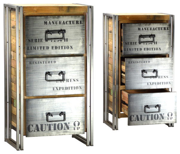 Urban Industrial - Eclectic - Filing Cabinets - los angeles - by Marco Polo Imports