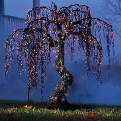 Spooky Halloween Willow Tree - 3-1/2' - Halloween Decorations and Decor traditional-holiday-decorations