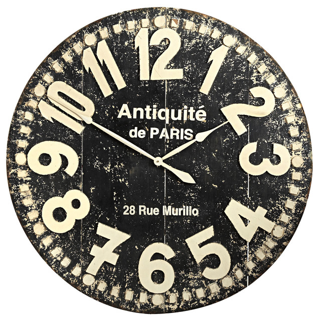 Grandiose Wall Clock Black