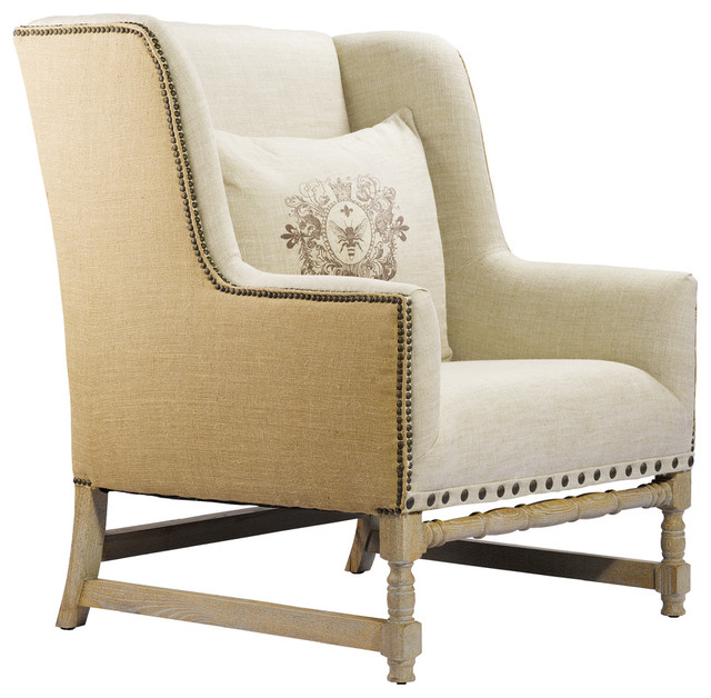 Amelie Linen Arm Chair- Linen/Hemp accent-chairs