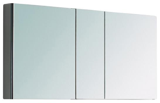 Fresca fmc8010 40 inches wide bathroom medicine cabinet with mirrors mirror 50 modern medicine for Fresca 60 wide bathroom medicine cabinet w mirrors