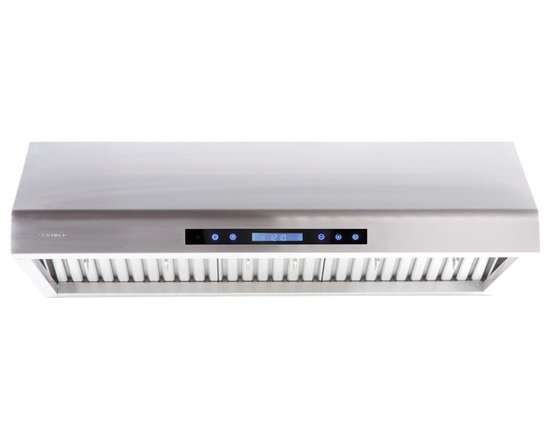 "Cavaliere - Cavaliere Euro AP238-PS61 30"" Under Cabinet Range Hood - Cavaliere Stainless Steel 260W Under Cabinet Range Hood with 4 Speeds, Timer Function, LCD Keypad, Stainless Steel Baffle Filters, and Halogen Lights"