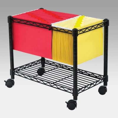 Wire Mobile Filing Cart modern-home-office-products