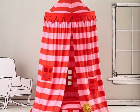 Home Sweet Play Home Canopy, Pink Stripe -