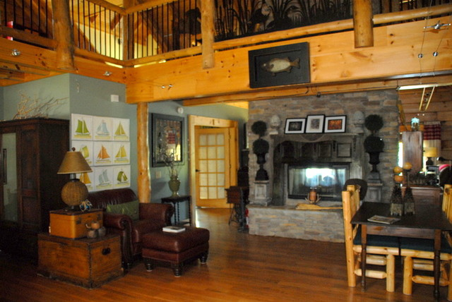 Beautiful Log Home Retreat On Lake Greenwood Sc Traditional Living Room Other Metro By