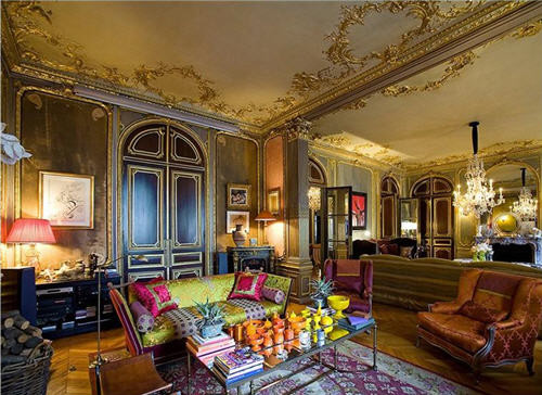 Old World Sitting Room eclectic