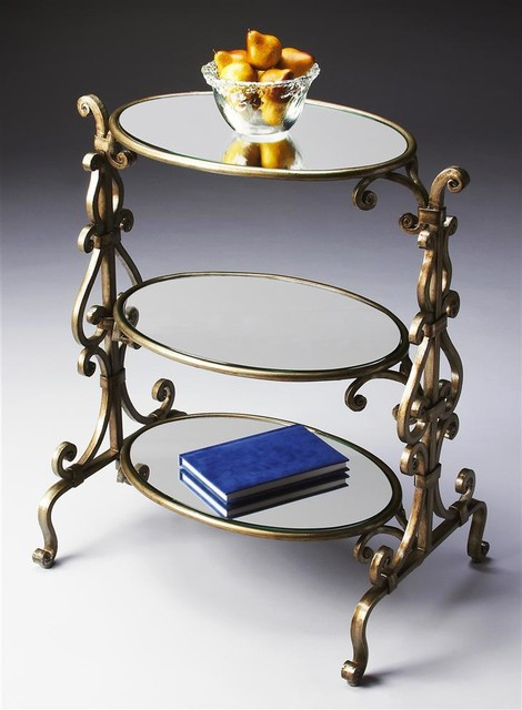Tiered Accent Table in Metalworks Finish traditional-side-tables-and-end-tables
