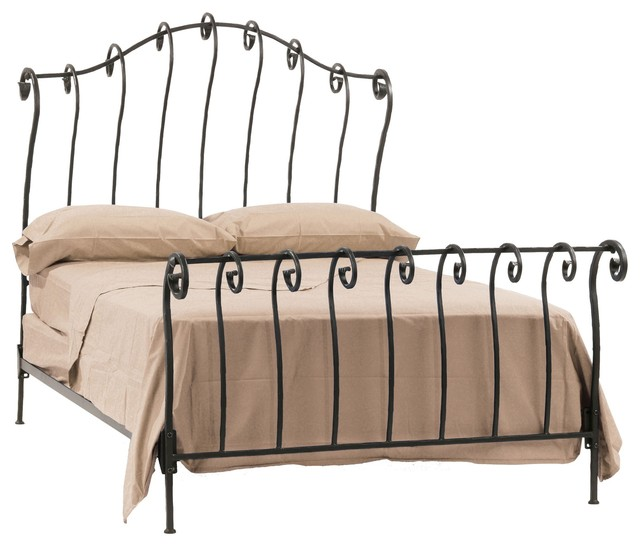 Delightful Wrought Iron Beds eclectic-beds