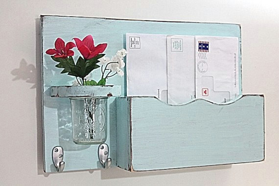 Mail Organizer by Old Wood Trader - Contemporary - Storage And Organization - by Etsy