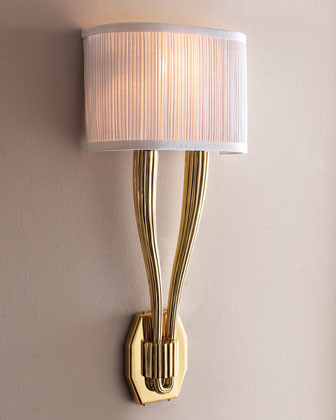 Polished Brass Sconce traditional wall sconces