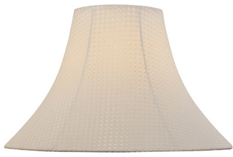 Windowpane Textured Bell Shade - 6in.Tx16in.Bx12in.Sl traditional-lamp-shades