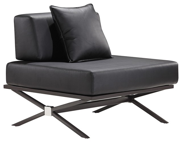 Zuo Modern Xert Modular Black Lounge Chair - contemporary - chairs ...