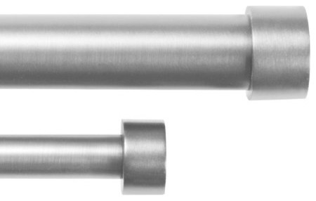 Double drapery rod 72 144 quot nickel by umbra modern curtain rods