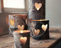 Heart Lantern eclectic candles and candle holders