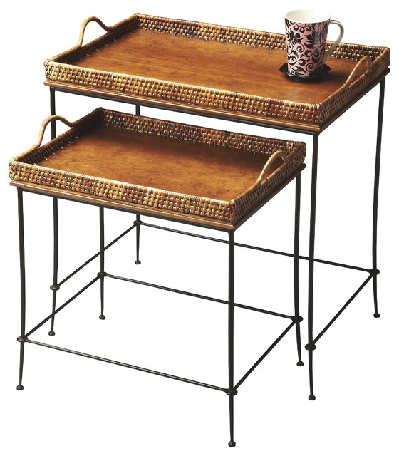 Loft Nesting Table Tropical side tables and end tables