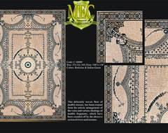 Marble Mosaic Rugs and Medallions modern living room