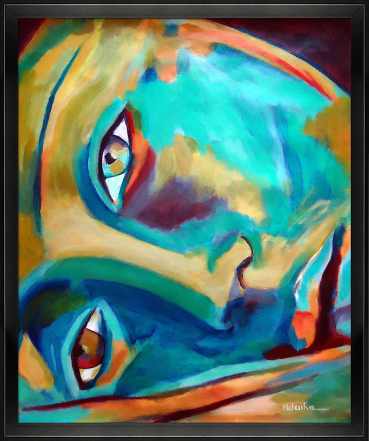 Wierzbicki - Doorway to The Heart Oil Painting contemporary-prints-and-posters