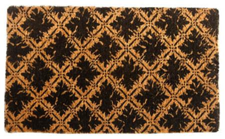 Diamond Floral Design Design Coco Doormat traditional-doormats