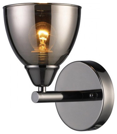 Black Chrome 1-light Wall Sconce contemporary wall sconces