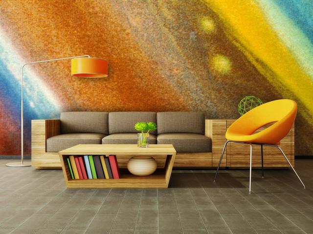 Saturn Wall Mural modern-wallpaper