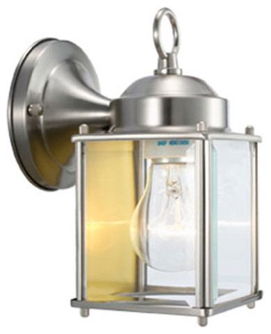 Wall Mounted Coach Lamps : Coach Satin Nickel Outdoor Wall Mounted Light - Modern - Outdoor Wall Lights And Sconces - by ...