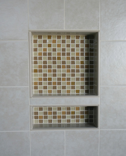 Ez niches usa recess bathroom shower shampoo wall niche - Modern wall niche designs ...