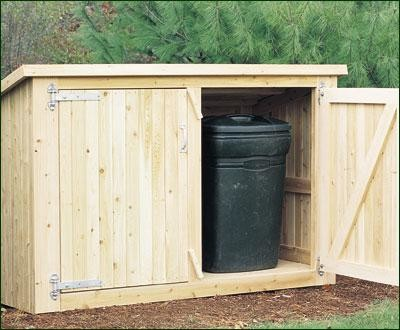 Trash & Recycling Enclosure - Modern - Sheds - other metro - by Walpole Outdoors