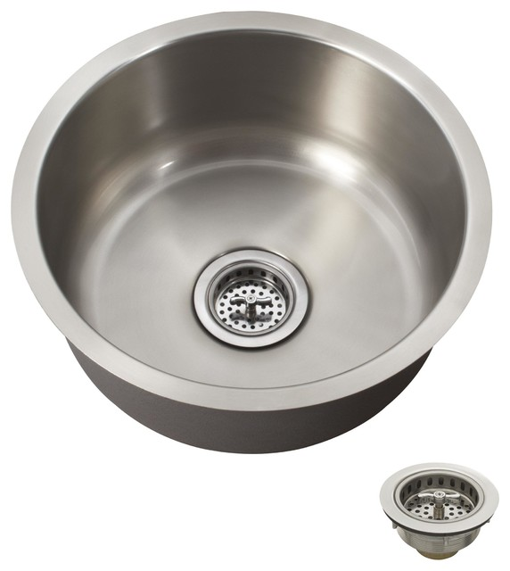 Elegant Round Stainless Steel Sink Befon For