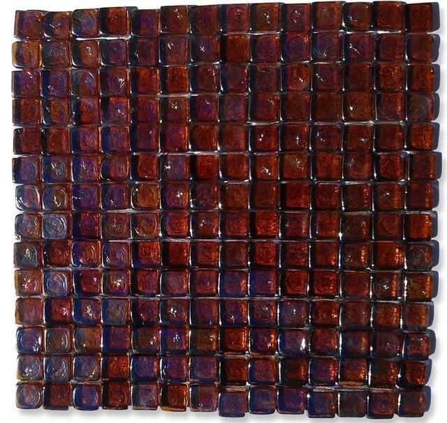 Gaby Dorado Square Glass Tiles eclectic-sheets