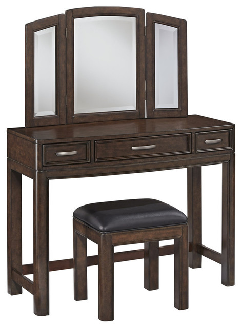 hill vanity and bench transitional bedroom makeup vanities