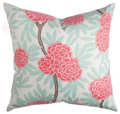 Mint Fleur Chinoise Pillow contemporary-pillows