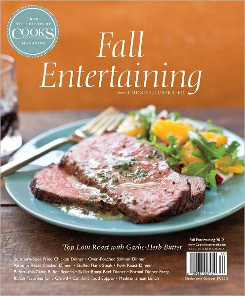 Cook's Illustrated's Fall Entertaining 2012 contemporary-books