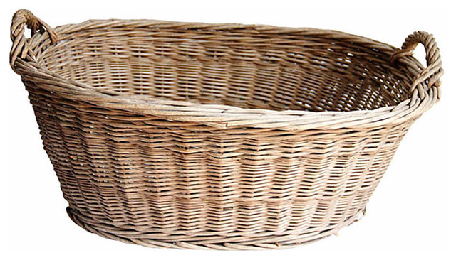 Wicker Laundry Basket - Mediterranean - Baskets - new york - by Second Shout Out