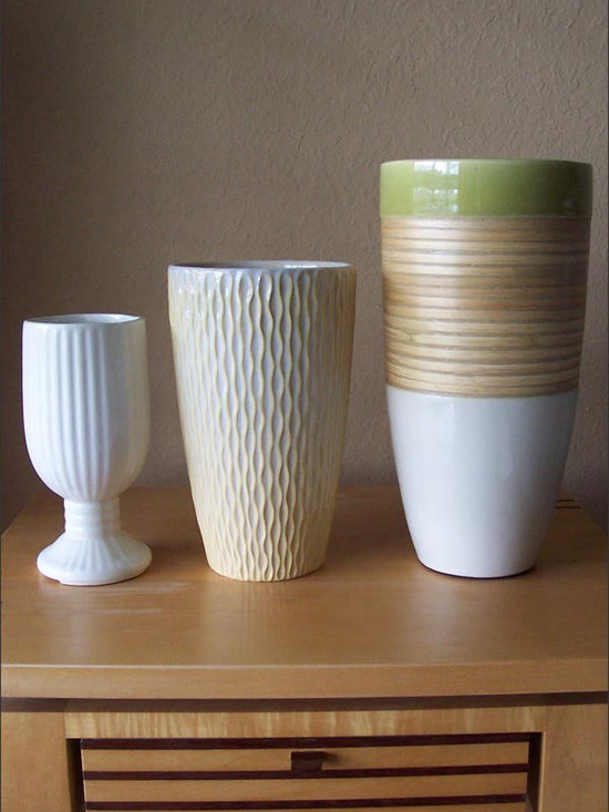 Vintage Modern Ceramic Vases - Vintage Modern Ceramic Vases in Your Pick of Flavor, and Great as Simply Decor, or as Containers for the Floral Stylist.