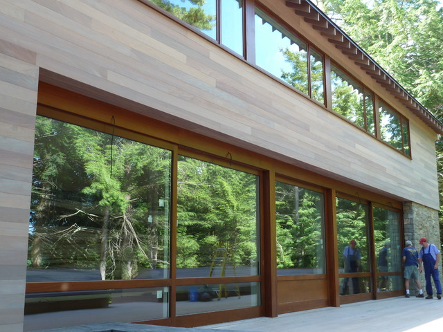 Lake house pocket lift slide doors contemporary Lake house windows