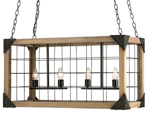 Eufaula Rectangular Chandelier by Currey & Company modern-chandeliers