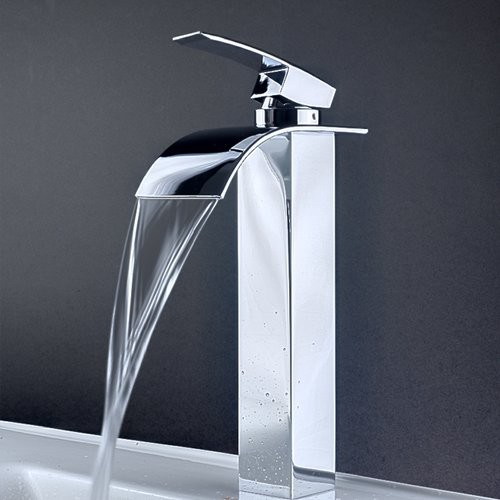 Single Handle Bathroom Lavatory Vessel Faucet contemporary-bathroom ...