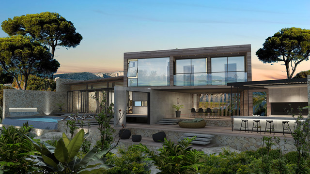 South Of France Villa contemporary-rendering