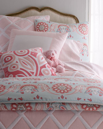 Zebra Stripe Bed Linens Punch Bloom Pillow, 20Sq. traditional-bed-pillows-and-pillowcases
