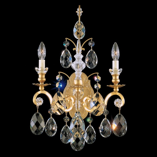Crystal Schonbek Renaissance Collection 22 1/2&quot; High Crystal Sconce traditional wall sconces