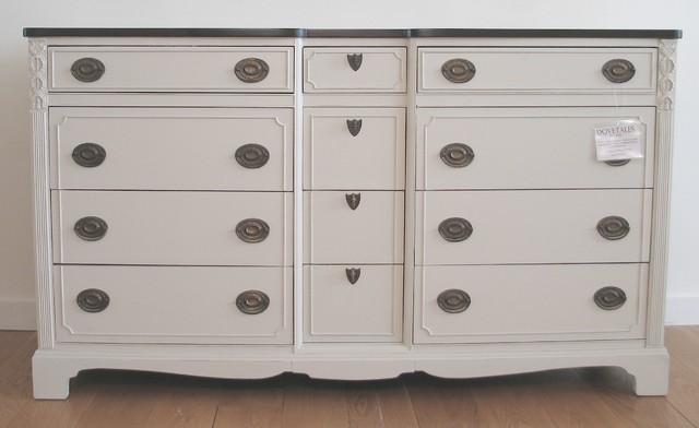 Long Dresser in Revere Pewter Traditional boston by