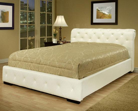 Abbyson Living - Abbyson Living Delano White Leather Bed -