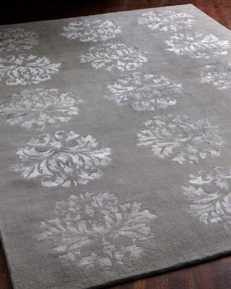 Silken Medallions Rug traditional-rugs