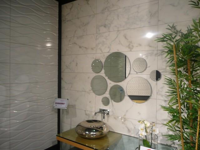 **NEW** DECORATIVE WALL TILES- PURE WHITE SERIES-CALACATTA modern-bathroom