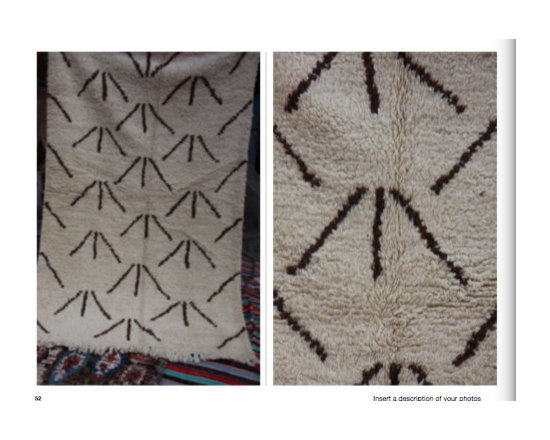 atlas mountains hand loomed - carpets from morocco - 1 meter x 1 .5 meter